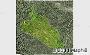 Satellite 3D Map of Jingxi, semi-desaturated