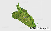 Satellite 3D Map of Jingxi, single color outside