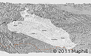 Gray Panoramic Map of Jingxi