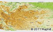Physical Panoramic Map of Jingxi