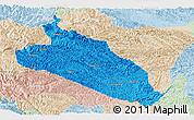 Political Panoramic Map of Jingxi, lighten