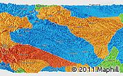 Political Panoramic Map of Jingxi