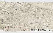 Shaded Relief Panoramic Map of Jingxi