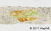 Physical Panoramic Map of Leye, shaded relief outside