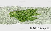 Satellite Panoramic Map of Leye, lighten