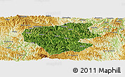 Satellite Panoramic Map of Leye, physical outside