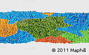 Satellite Panoramic Map of Leye, political outside