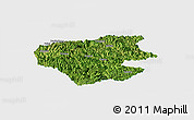 Satellite Panoramic Map of Leye, single color outside