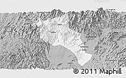 Gray Panoramic Map of Lingui