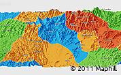 Political Panoramic Map of Lingui
