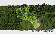 Satellite Panoramic Map of Lingui, darken