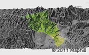 Satellite Panoramic Map of Lingui, desaturated
