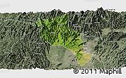 Satellite Panoramic Map of Lingui, semi-desaturated