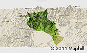 Satellite Panoramic Map of Lingui, shaded relief outside