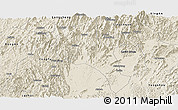 Shaded Relief Panoramic Map of Lingui