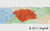 Political Panoramic Map of Lingyun, lighten