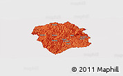 Political Panoramic Map of Lingyun, single color outside