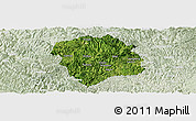Satellite Panoramic Map of Lingyun, lighten