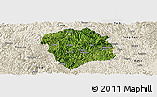 Satellite Panoramic Map of Lingyun, shaded relief outside