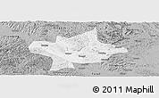 Gray Panoramic Map of Long An