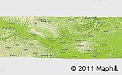Physical Panoramic Map of Long An