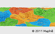 Political Panoramic Map of Long An