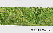 Satellite Panoramic Map of Long An