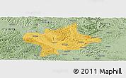 Savanna Style Panoramic Map of Long An