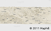 Shaded Relief Panoramic Map of Long An