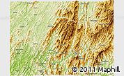 Physical 3D Map of Longsheng