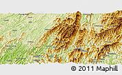 Physical Panoramic Map of Longsheng