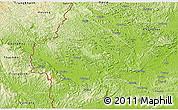 Physical 3D Map of Longzhou