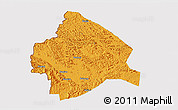 Political 3D Map of Longzhou, cropped outside