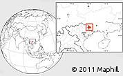Blank Location Map of Longzhou