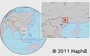 Gray Location Map of Longzhou