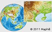 Physical Location Map of Longzhou