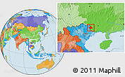 Political Location Map of Longzhou