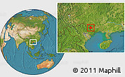 Satellite Location Map of Longzhou