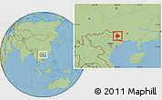 Savanna Style Location Map of Longzhou