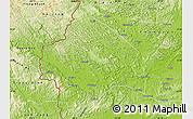 Physical Map of Longzhou