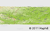 Physical Panoramic Map of Longzhou