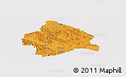 Political Panoramic Map of Longzhou, single color outside