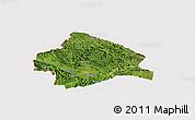 Satellite Panoramic Map of Longzhou, cropped outside