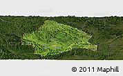 Satellite Panoramic Map of Longzhou, darken