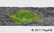 Satellite Panoramic Map of Longzhou, desaturated