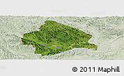 Satellite Panoramic Map of Longzhou, lighten