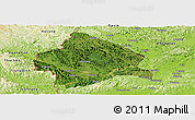 Satellite Panoramic Map of Longzhou, physical outside