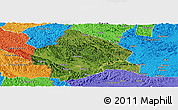 Satellite Panoramic Map of Longzhou, political outside