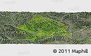 Satellite Panoramic Map of Longzhou, semi-desaturated