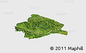 Satellite Panoramic Map of Longzhou, single color outside